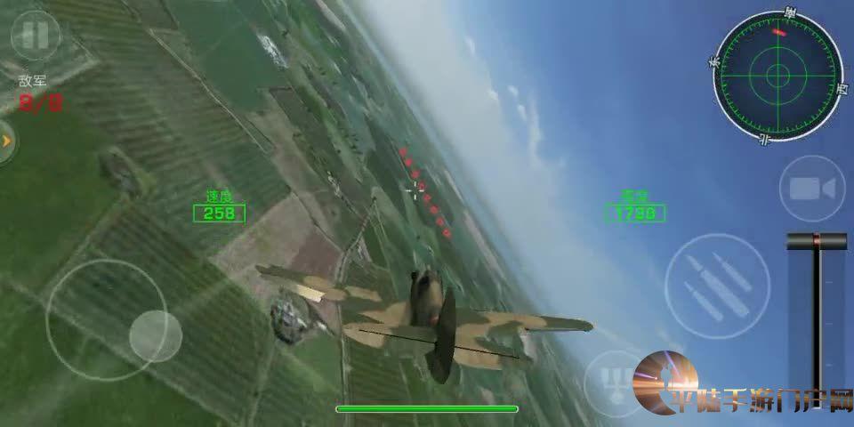 雷霆战机轰炸补给车